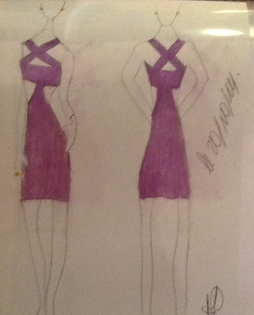 34° robe courte violette (a purple court dresses)