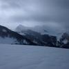 Du sommet du Plaa dou Soum, Le Lauriolle et le pic Montagnon dans les nuages