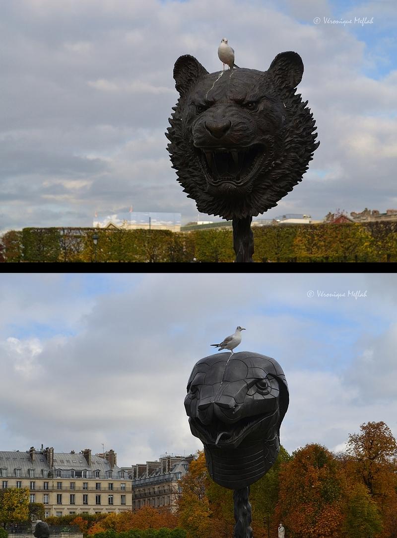 Jardin Des Tuileries : FIAC 2015 : Circle of Animals/ Zodiac Heads de Ai Weiwei