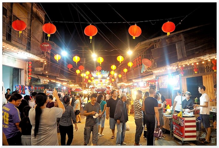 Village Chinois en Thaïlande.
