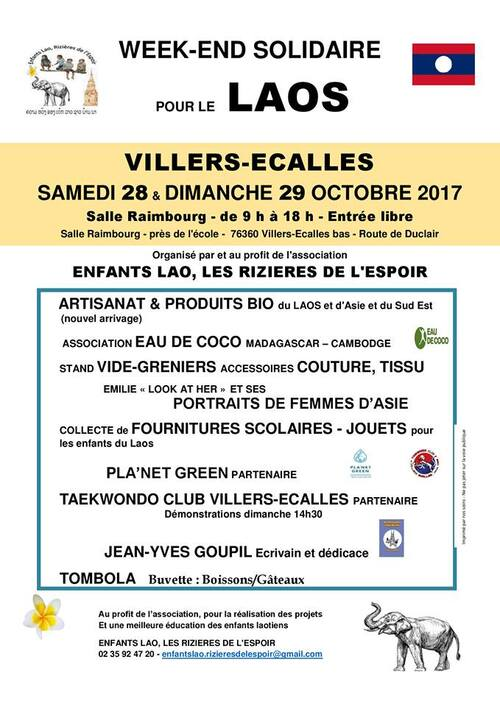 Week-end solidaire 28 et 29 octobre 2017