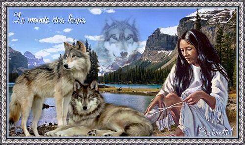 """Défi Fée capucine """"Le monde des loups"""""""