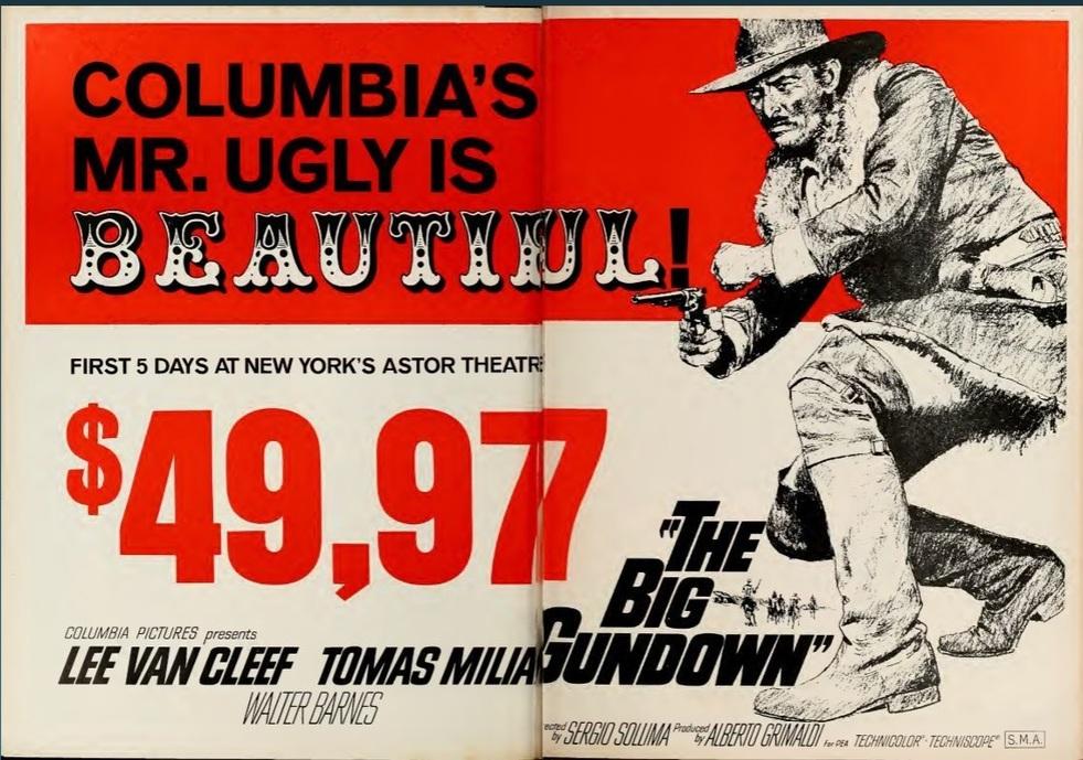 THE BIG GUNDOWN BOX OFFICE USA 1968