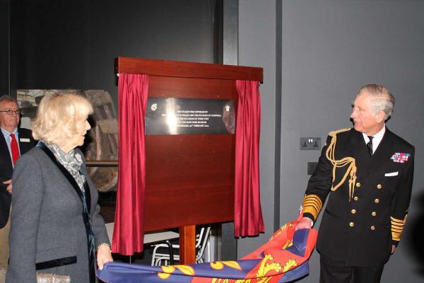 Charles et Camilla au musée