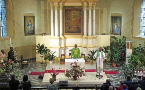 Messe du secteur à Bohan