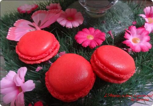 Macarons à la rose...