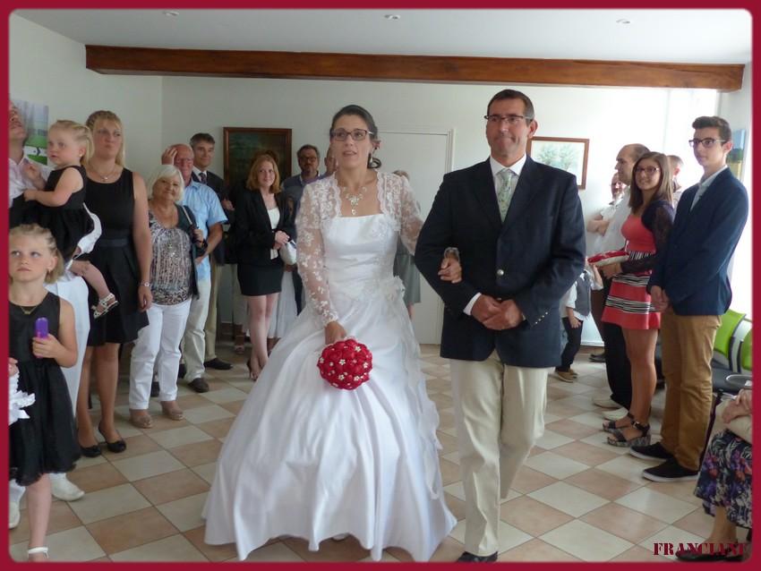 le mariage le 1er Août de mon fils Thierry et de Corinne ,bonne semaine