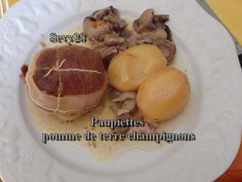 Paupiettes aux pommes de terre et champignons
