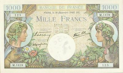 LE BILLET 1000 FRS COMMERCE ET INDUSTRIE