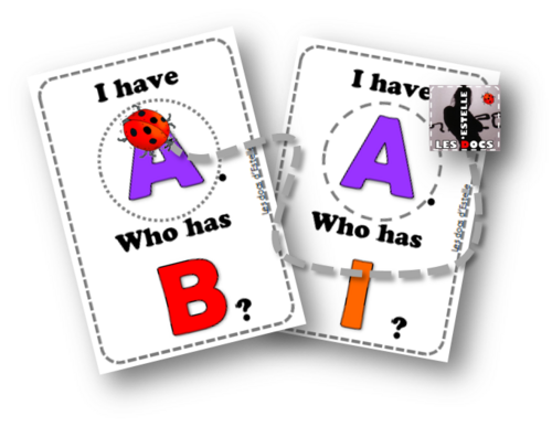 English Alphabet - cards game - estelledocs