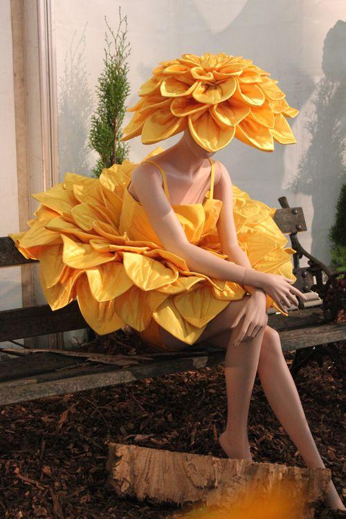 Coiffures fleuries-