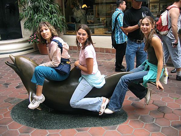 Côte Californienne Santa Barbara les filles