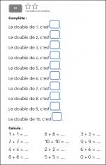 C2: Connaitre les doubles des nombres inférieurs à 10