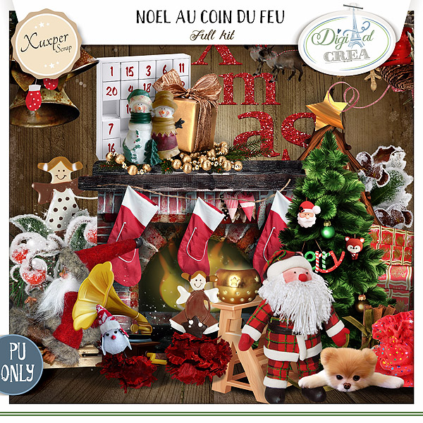 NOEL AU COIN DU FEU by Xuxper Designs