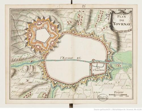 Trente-huit plans de places fortes - Tournay (XVIIIe s)(gallica)