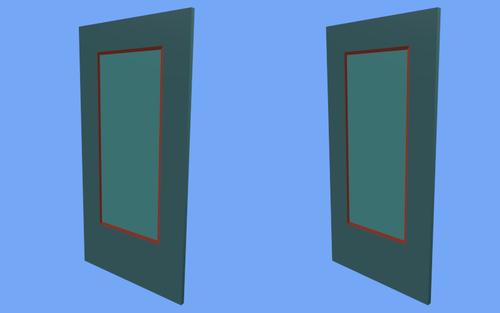 La porte en 3D