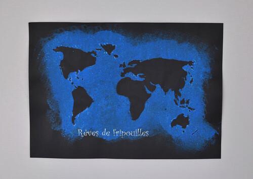 Peinture et Carte du monde