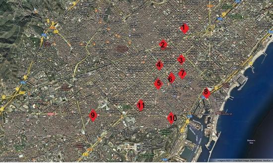 bcn carte detaillée métro