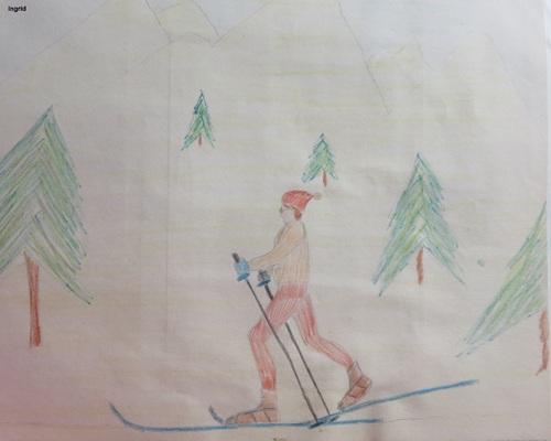 A Vassieux, le ski de fond