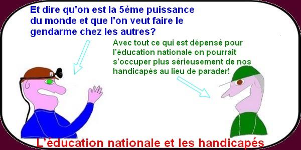Des handicapés français scolarisés en Belgique?