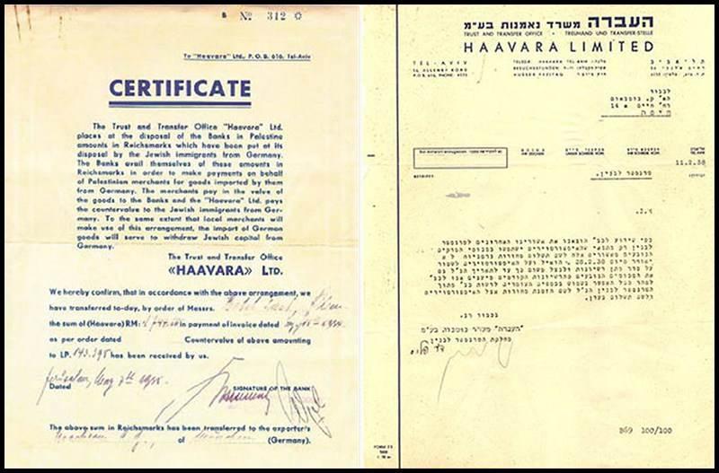 Certificat Haavara