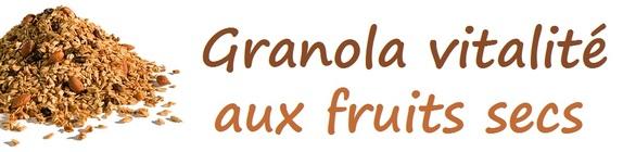 Granola vitalité aux fruits secs