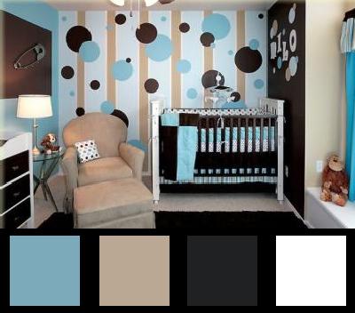 Chambre bleu et marron design de maison for Chambre bleu marron