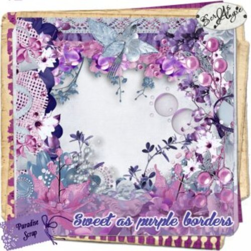 "Kit ""Sweet as purple"" de Scrap'angie."