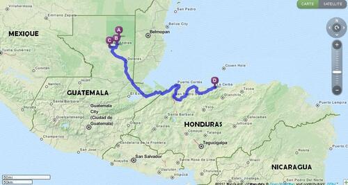 27.11.2012 - Tikal > El Remate > Flores > La Ceiba