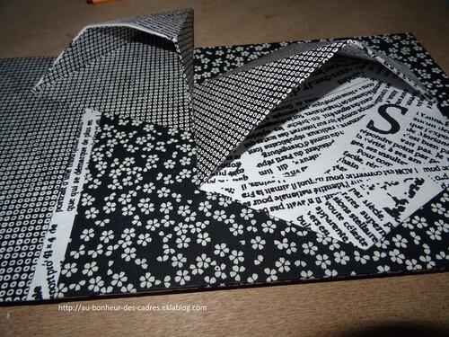 Cartonnage :  range crayon en origami
