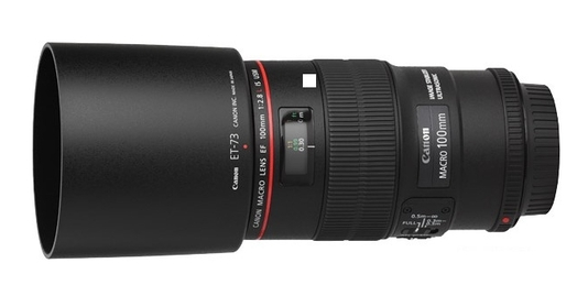 CANON EF 100 mm f 2.8 L Macro 1:1 IS USM ((Equi. 24x36 : 160 mm)