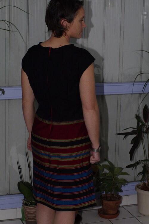 Ma robe faite avec mon tissus de Noël