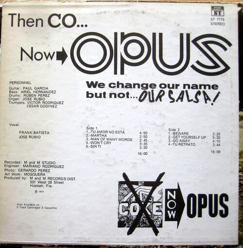 "Opus alias Coke : Album "" Opus "" Sound Triangle Records ST-7779 [ US ]"