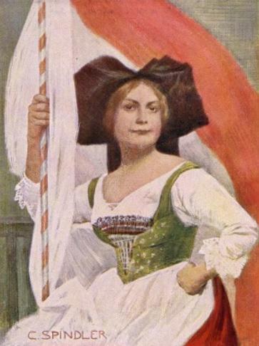 Hansi et le drapeau alsacien