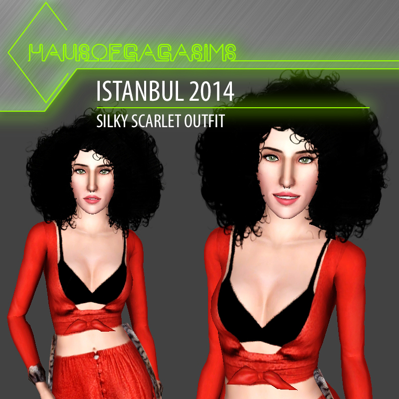 ISTANBUL 2014 SILKY SCARLET OUTFIT