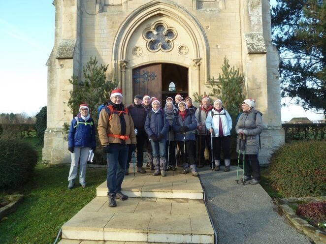 La randonnée du 17 décembre à Sainte-Honorine-du-Fay
