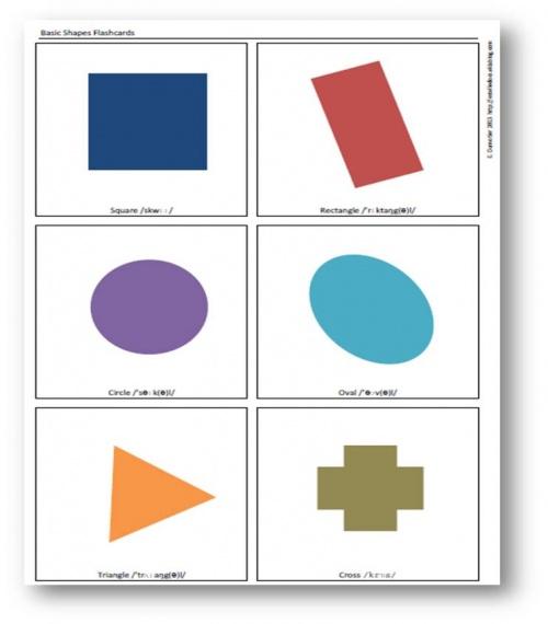 Flashcards - Basic Shapes - Formes géométriques simples