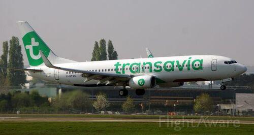 L'avion Transavia de Sabine...