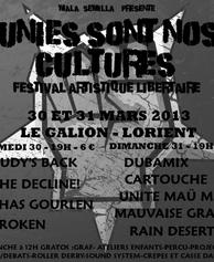 Unies sont nos cultures - Festival libertaire