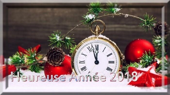 Bonne année 2018 à tous mes amis de Facebook et aux autres