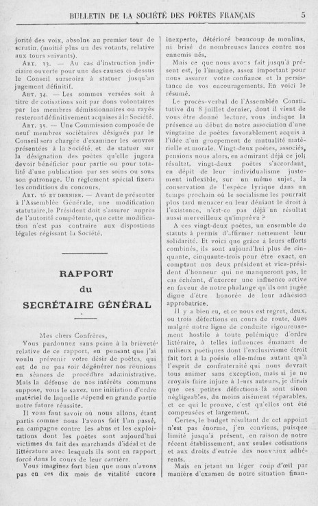 Règlement intérieur 1902 :