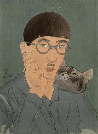 Des artistes et leur chat