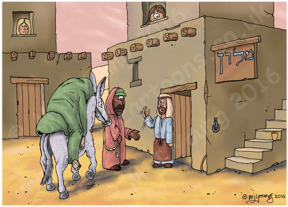 Luke 10 - Parable of the good Samaritan SET02 - Scene 04 - Arrival at inn