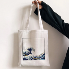 Shopping Bag Katsushika Hokusai Arts in 2020 | Cloth bags, Fabric ...