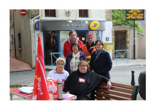 Réouverture du bureau de poste le lundi à ESPERAZA et besoin de 2 emplois en + pour surcharge de travail