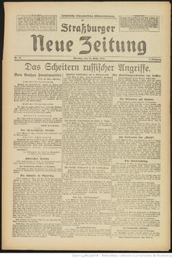 Strassburger Neuer Zeitung 26/03/1916