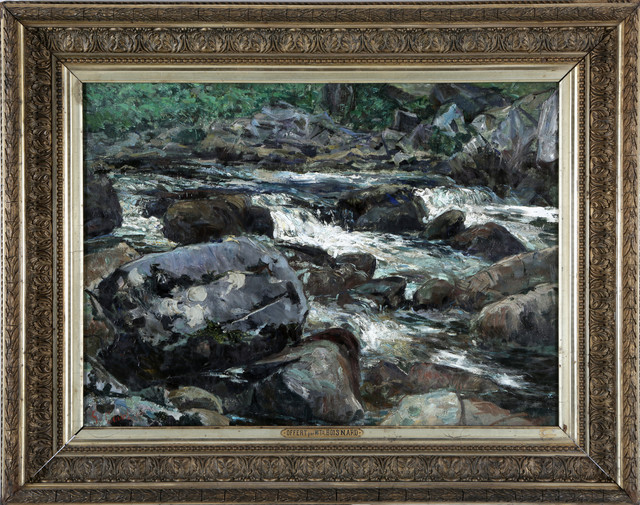 "Courbet ""La cascade de Mortain"""