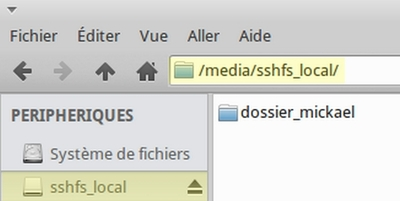Monter un dossier distant en local avec SSHFS