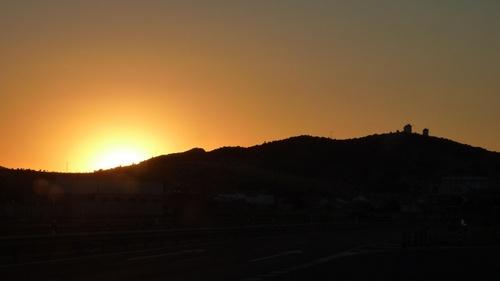 moulins soleil couchant