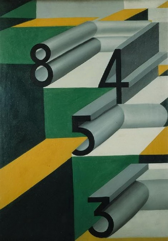 Giacomo Balla, Nombres amoureux, 1924